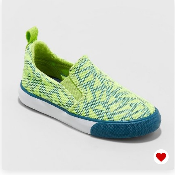 Cat & Jack Other - NWT Cat & Jack Boys Kiefer Neon Green Sneakers